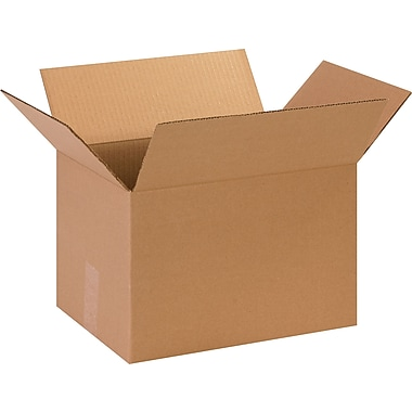 13.75in.(L) x 10.25in.(W) x 9.125in.(H)- Staples Corrugated Shipping Boxes, 25/Bundle