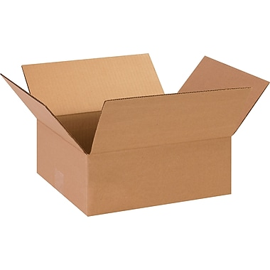 13in.(L) x 11in.(W) x 5in.(H)- Staples Corrugated Shipping Boxes, 25/Bundle