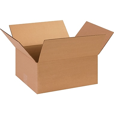 13in.(L) x 11in.(W) x 6in.(H)- Staples Corrugated Shipping Boxes, 25/Bundle