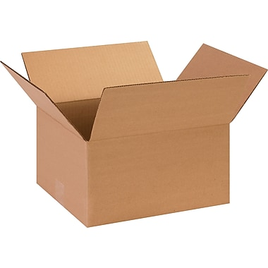 13in.(L) x 11in.(W) x 7in.(H)- Staples Corrugated Shipping Boxes, 25/Bundle
