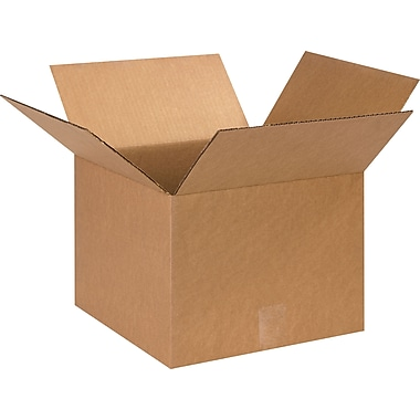 13in.(L) x 13in.(W) x 10in.(H)- Staples Corrugated Shipping Boxes, 25/Bundle
