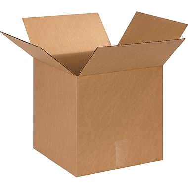 13in.(L) x 13in.(W) x 13in.(H)- Staples Corrugated Shipping Boxes