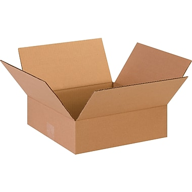 13in.(L) x 13in.(W) x 4in.(H)- Staples Corrugated Shipping Boxes, 25/Bundle