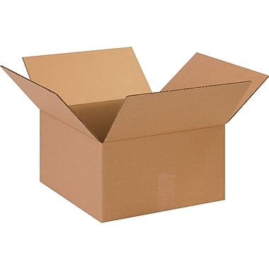 13.5in.(L) x 13.5in.(W) x 7.5in.(H)- Staples Corrugated Shipping Boxes, 25/Bundle