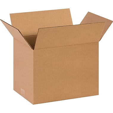 14in.(L) x 10in.(W) x 10in.(H)- Staples Corrugated Shipping Boxes