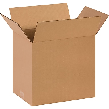 14in.(L) x 10in.(W) x 12in.(H)- Staples Corrugated Shipping Boxes, 25/Bundle