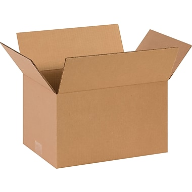 14in.(L) x 10in.(W) x 8in.(H)- Staples Corrugated Shipping Boxes, 25/Bundle