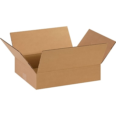 14in.(L) x 11in.(W) x 3in.(H)- Staples Corrugated Shipping Boxes, 25/Bundle