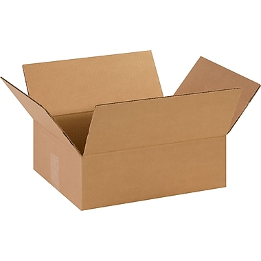 14in.(L) x 11in.(W) x 4-1/2in.(H)- Staples Corrugated Shipping Boxes, 25/Bundle