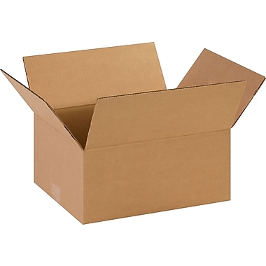 14in.(L) x 11in.(W) x 6in.(H)- Staples Corrugated Shipping Boxes, 25/Bundle