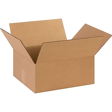 14in.(L) x 12in.(W) x 6in.(H)- Staples Corrugated Shipping Boxes, 25/Bundle