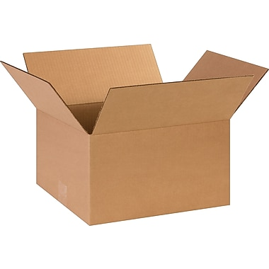 14in.(L) x 12in.(W) x 8in.(H)- Staples Corrugated Shipping Boxes