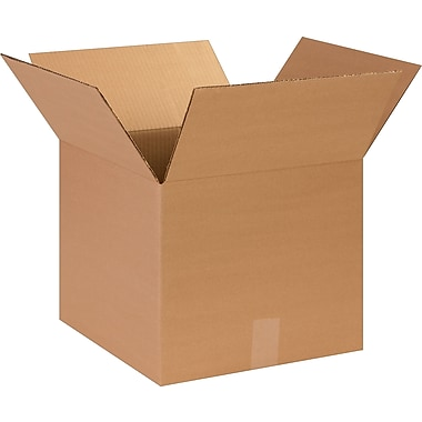 14in.(L) x 14in.(W) x 12in.(H)- Staples Corrugated Shipping Boxes