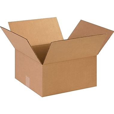 14in.(L) x 14in.(W) x 7in.(H)- Staples Corrugated Shipping Boxes, 25/Bundle