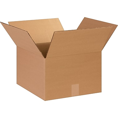 14in.(L) x 14in.(W) x 9in.(H)- Staples Corrugated Shipping Boxes