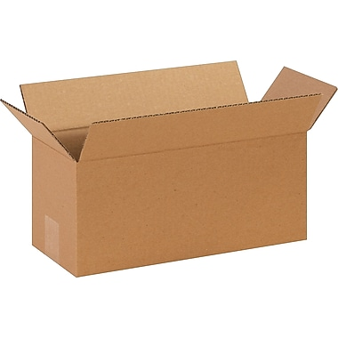 14in.(L) x 6in.(W) x 6in.(H)- Staples Corrugated Shipping Boxes, 25/Bundle