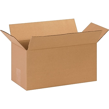 14in.(L) x 7in.(W) x 7in.(H)- Staples Corrugated Shipping Boxes, 25/Bundle