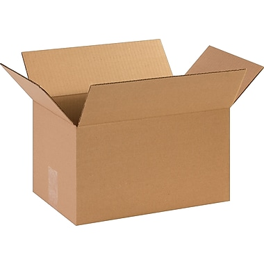 14in.(L) x 9in.(W) x 8in.(H)- Staples Corrugated Shipping Boxes, 25/Bundle