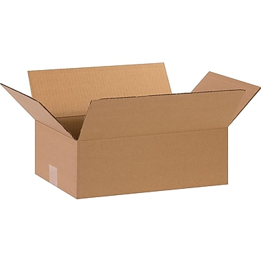 15in.(L) x 10in.(W) x 5in.(H)- Staples Corrugated Shipping Boxes, 25/Bundle