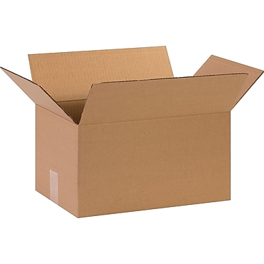 15in.(L) x 10in.(W) x 8in.(H)- Staples Corrugated Shipping Boxes