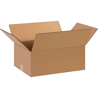 15in.(L) x 11in.(W) x 6in.(H)- Staples Corrugated Shipping Boxes, 25/Bundle