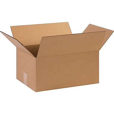 15in.(L) x 11in.(W) x 7in.(H)- Staples Corrugated Shipping Boxes, 25/Bundle