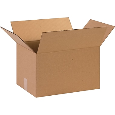 15in.(L) x 11in.(W) x 9in.(H)- Staples Corrugated Shipping Boxes
