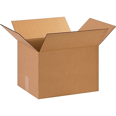 15in.(L) x 12in.(W) x 10in.(H)- Staples Corrugated Shipping Boxes