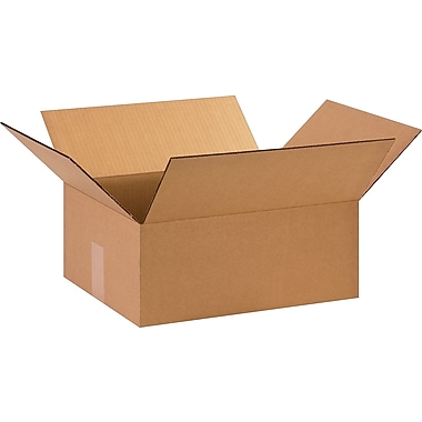 15in.(L) x 12in.(W) x 6in.(H)- Staples Corrugated Shipping Boxes, 25/Bundle