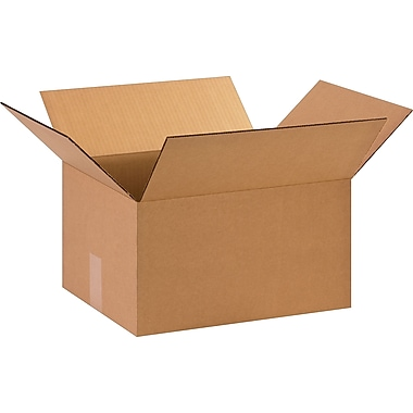 15in.(L) x 12in.(W) x 8in.(H)- Staples Corrugated Shipping Boxes
