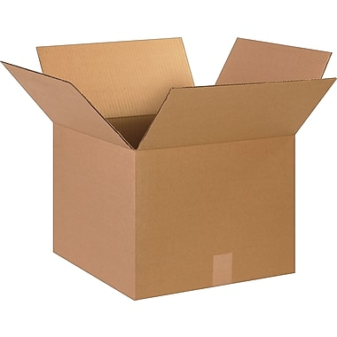 15in.(L) x 15in.(W) x 12in.(H)- Staples Corrugated Shipping Boxes, 25/Bundle