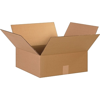 15in.(L) x 15in.(W) x 6in.(H)- Staples Corrugated Shipping Boxes, 25/Bundle