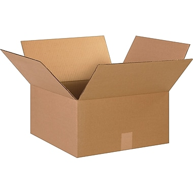 15in.(L) x 15in.(W) x 8in.(H)- Staples  Corrugated Shipping Boxes