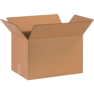 16in.(L) x 10in.(W) x 10in.(H)- Staples Corrugated Shipping Boxes, 25/Bundle