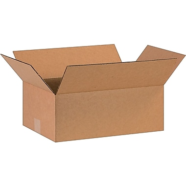 16in.(L) x 10in.(W) x 6in.(H)- Staples Corrugated Shipping Boxes, 25/Bundle