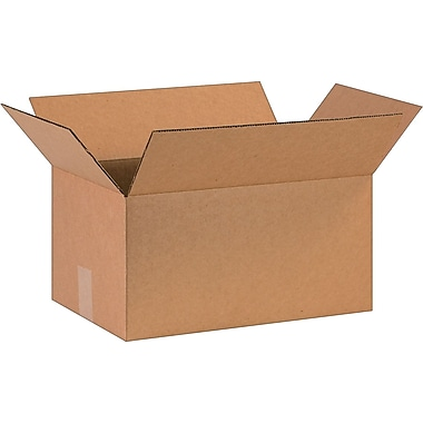 16in.(L) x 10in.(W) x 8in.(H)- Staples Corrugated Shipping Boxes, 25/Bundle