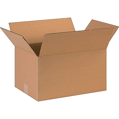 16in.(L) x 11in.(W) x 9in.(H)- Staples Corrugated Shipping Boxes