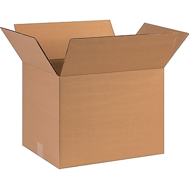 16in.(L) x 12in.(W) x 12in.(H)- Staples Corrugated Shipping Boxes, 25/Bundle