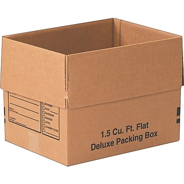 16in.(L) x 12in.(W) x 12in.(H)- Staples Deluxe Moving Boxes