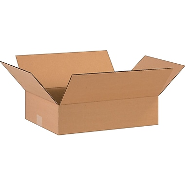16in.(L) x 12in.(W) x 4in.(H)- Staples Corrugated Shipping Boxes, 25/Bundle