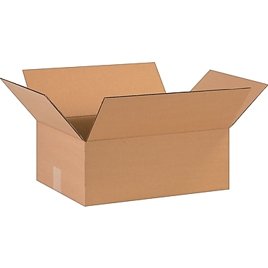 16in.(L) x 12in.(W) x 6in.(H)- Staples Corrugated Shipping Boxes, 25/Bundle
