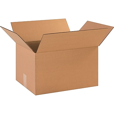 16-1/4in.(L) x 12-1/4in.(W) x 9-5/16in.(H)- Staples Corrugated Shipping Boxes, 25/Bundle