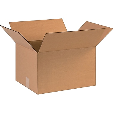 16in.(L) x 13in.(W) x 10in.(H)- Staples Corrugated Shipping Boxes, 25/Bundle