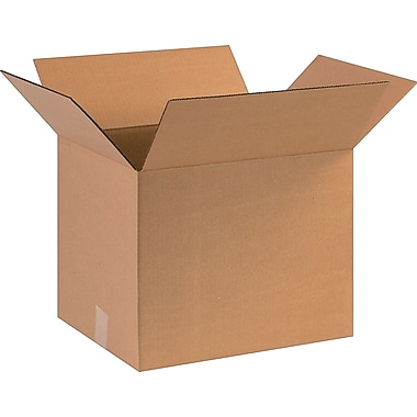 16in.(L) x 13in.(W) x 13in.(H)- Staples Corrugated Shipping Boxes