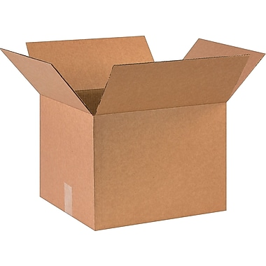 16in.(L) x 14in.(W) x 12in.(H)- Staples Corrugated Shipping Boxes, 25/Bundle