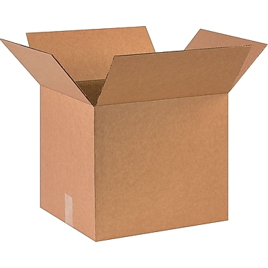 16in.(L) x 14in.(W) x 14in.(H)- Staples Corrugated Shipping Boxes