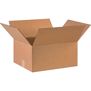 16in.(L) x 14in.(W) x 8in.(H)- Staples Corrugated Shipping Boxes, 25/Bundle