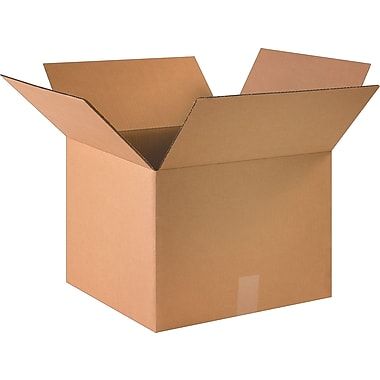 16in.(L) x 16in.(W) x 12in.(H)- Staples Corrugated Shipping Boxes