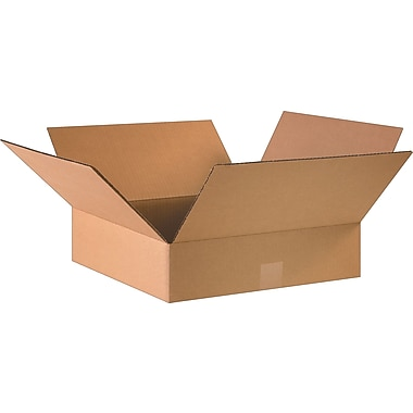 16in.(L) x 16in.(W) x 4in.(H)- Staples Corrugated Shipping Boxes, 25/Bundle