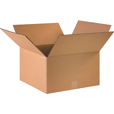 16in.(L) x 16in.(W) x 9in.(H)- Staples Corrugated Shipping Boxes